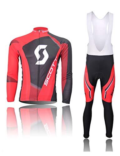 Fonly Männer und Frauen Jersey Langarm Anzug Mountain Bike Radfahren Shorts ausgestattet Fahrradkleidung Radfahren Jersey (Color : W-Bib, Size : M:(164-172cm)(55-65kg)) (Mountain Bike Bib Shorts)