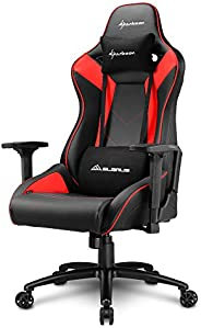 Sharkoon Elbrus 3 Gaming Chair/ Seat, Durable upto 150 Kgs - Black/ Red