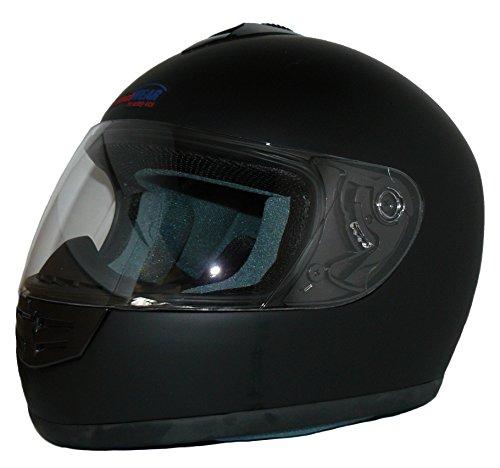 Protectwear V190-ES-S Motorradhelm, Größe S, Einfarbig Schwarz Matt