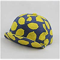 Yellow Toddler Cap Young shinee Kids Hat Children Lemon Printing Soft Baseball Cap Baby Sun Protection Hat for 2-4 Years Old