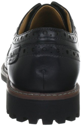 Clarks Montacute Wing Herren Brogue Schnürhalbschuhe Schwarz (Black Leather)