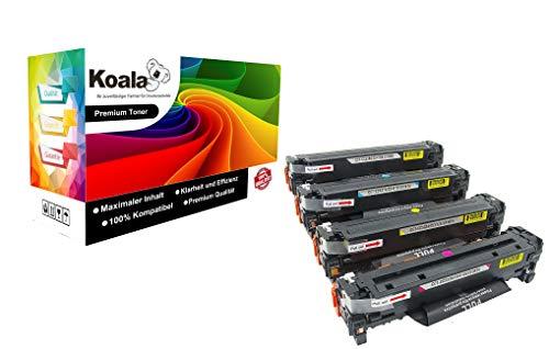 Koala Toner kompatibel für HP 304A CC530A CC531A CC532A CC533A für HP Color Laserjet CP2020 CP2024 CP2024N CP2024DN CP2025 CP2025N CM2320CB MFP CM2320 EB MFP CM2320 Ei MFP 1*BK 1*C 1*M 1*Y -