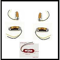 Limitazione LED luci, Set da  pezzi (con base cromata,/luce colore arancione) 95X 32mm Dodge RAM 15002500Ford F150F250ecc.