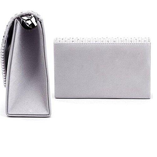 Longra Donna Diamante sacchetto del pranzo Argento