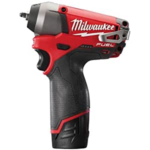 Milwaukee M12 3/8-inch Fuel Compact Impact Wrench Reception with Batteries