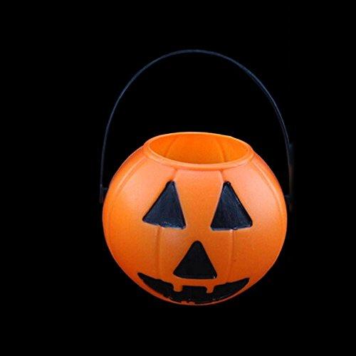 HuntGold 2X Halloween PropPartei Verein Kunststoff Kürbis Eimer Süßigkeiten Topflappen Dekoration (Typ 2)(Versand aus HK,Lieferzeit :10-25 - Eimer Kürbis Kunststoff Halloween