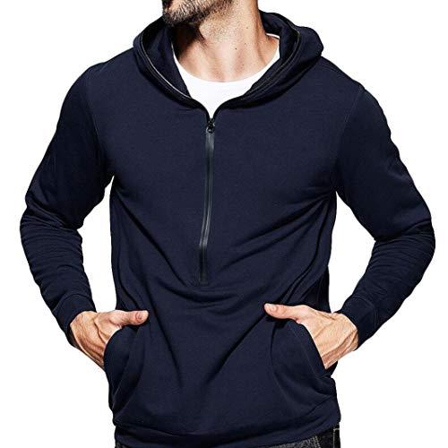 Preisvergleich Produktbild Sannysis Herren Reine Farbe Zipper Pullover Langarm mit Kapuze Sweatshirt Tops Bluse