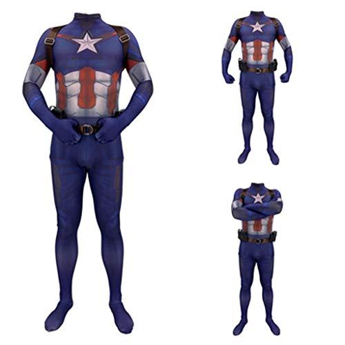 HYYSH Helden Expedition Kostüm Captain America Cosplay Hosen Engen Erwachsenen Jungen Spielzeug Cosplay (Size : XXL) (Captain Dress Up America)