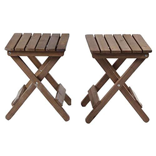 DX Klapptisch Outdoor Tisch und Stuhl Set Massivholz lässig kleine Wohnung Retro-Stil Single runden Tisch (Kaffee) 2 Stühle (braun) (Kaffee Tisch Runder Mit Stühlen)