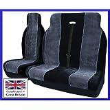 Vauxhall Movano 2008 Luxury Van Seat Covers Black & Grey