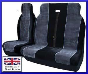 Ford Transit SWB 2000-2006 Luxury Van Seat Covers Black & Grey