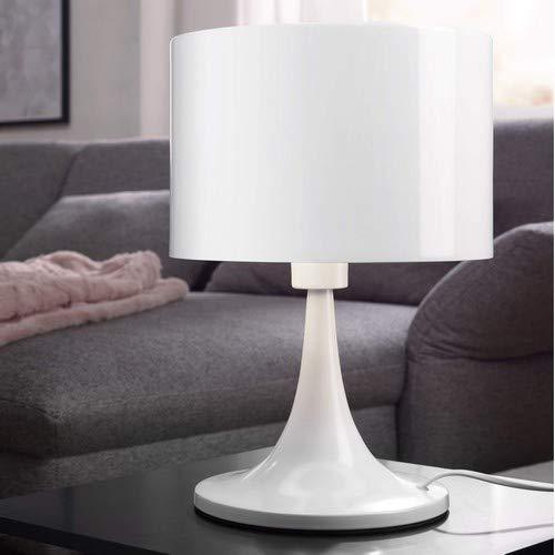 WOHNLING TILA Tischleuchte, Metall, Weiß, 25x37x25 cm