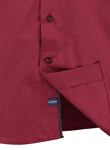 Barbons PREMIUM Herren-Hemd Slim-Fit tailliert / für Anzug Freizeit Business / Größen S-XXL 2 - Bordo