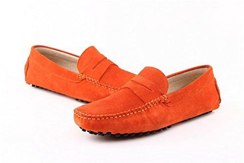 Minitoo ,  Herren Durchgängies Plateau Sandalen mit Keilabsatz Orange