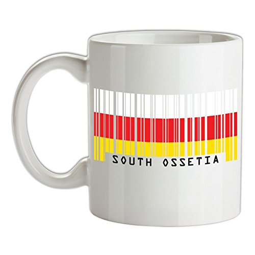 South Ossetia / Südossetien Barcode Flagge - Bedruckte Kaffee- und Teetasse