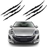 Bonfinity 2 Adesivi Auto a Forma di Graffi Tuning Sport | Stickers Adesivi Moto Macchina Esterni 40 x 3 cm (Nero)
