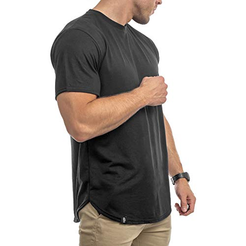 rren Oversize T-Shirt Muscle Basic Gym Fitness Shirt (Schwarz, M) ()