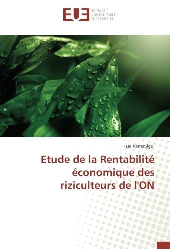 Etude de la Rentabilité économique des riziculteurs de l'ON (OMN.UNIV.EUROP.)