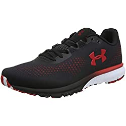 Under Armour Charged Spark, Zapatillas de Running para Hombre, Negro (Black Red 001), 45 EU