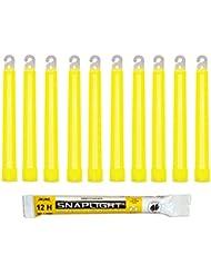 Cyalume SnapLight Gelb KnickLichter Glow Sticks – 15cm 6 Inch Industrial Grade Leuchtstab, Ultra helle Light Sticks mit Leuchtdauer 12 Stunden (10-er Pack)