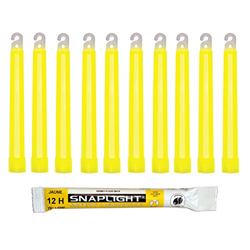 Cyalume SnapLight Yellow Glow Sticks – 6 Inch Industrial Grade, Ultra Bright Light Sticks with 12 Hour Duration (Pack of 10) Test