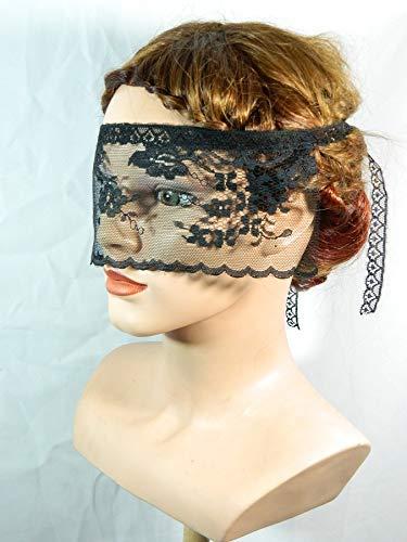 Maske aus Spitze verführerisch sexy Augenbinde schwarz
