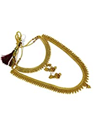 Shree Mauli Creation Golden Copper Combo Of Copper Jelebi Necklace Set For Women SMCN1058