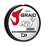 Daiwa J-Braid 150M 8-Strand Woven Round Braid Line, Dark Green, 10 lb