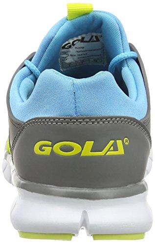 Gola Akita, Chaussures de Running Entrainement Femme Bleu (Blue/Grey/Zest)