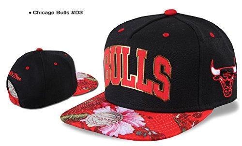Mitchell & Ness Casquette Snapback Chicago Bulls, Valentine Nets ,Los Angeles Kings, Miami Heat, Warriors etc. Chicago Bulls #D3