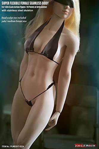 Sookg TBLeague Manikin weibliche körper statue weibliche 1/6 12 zoll 28 CM weiße haut hohe brüste lollipop super flexible weibliche nahtlose body (ohne kopfbedeckungen) (S22A)