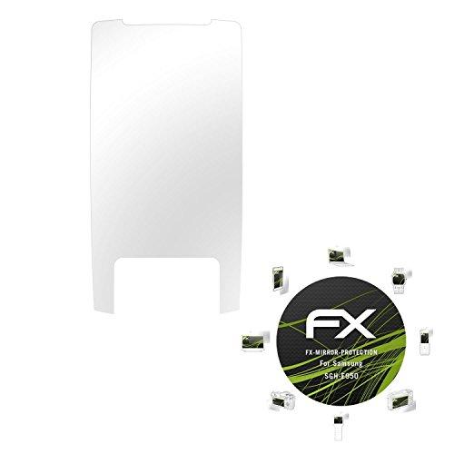 Samsung SGH-E950 Spiegelfolie - atFoliX FX-Mirror Displayschutz mit Spiegeleffekt