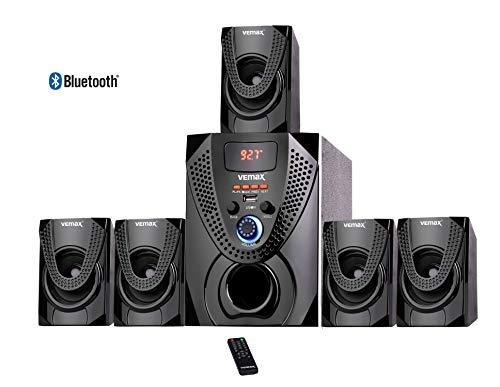 Vemax Ritz 5.1 Bluetooth Multimedia Home Theater System with FM, AUX, USB, Bass & Treble Control (Black & Orange)
