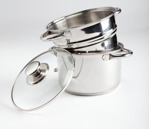 Vinod Cookware 2 Tier Steamer, 18cm