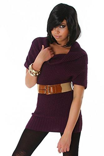 Fashion - Pull sans manche - Uni - Manches Courtes - Femme Lilas