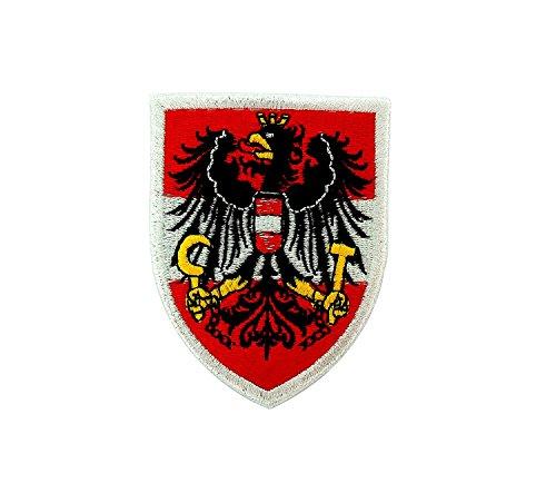 Patch Ecusson-gesticktem zum Aufbügeln Flagge Österreich Österreichische Wappen Zeitzeuge Wappen-patches
