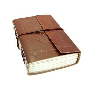 De luxe en cuir pour carnet de notes en relief avec papier à la main - Medium - 110x165mm
