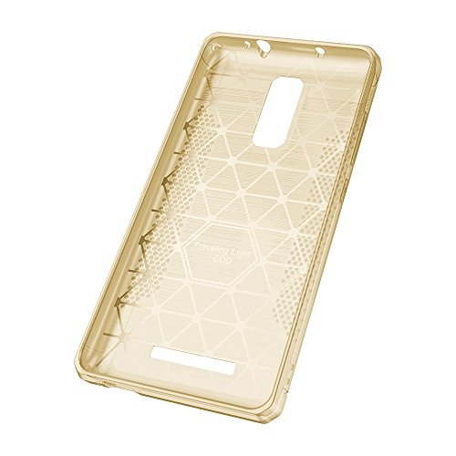 Solid Color Brushed Texture Carbon Fiber Anti-Rutsch TPU Schutzhülle Case Xiaomi Redmi Hinweis 3 by diebelleu ( Color : Transparent ) Gold