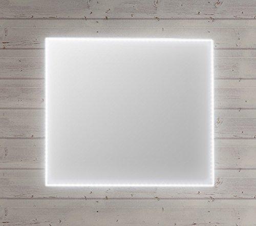 Specchio da bagno con luce a led perimetrale interna e for Specchio bagno profilo alluminio