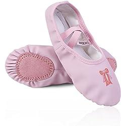 Freebily Zapatillas para Niña Zapatos de Danza Ballet Gimnasia para Niña Confortables Antideslizantes