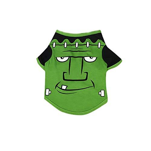 JKRTR Haustierkleidung 2019,Kühles niedliches Haustier-T-Shirts Halloweens(Grün,XS) (Grüne Schaf Kostüm)