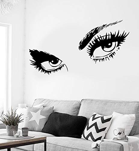 Heiße Augen Mädchen Wandaufkleber Teen Frau Aufkleber Für Wohnzimmer Decor Abnehmbare Selbstklebende Wandtattoo Hot Wandbild 57 * 89 cm