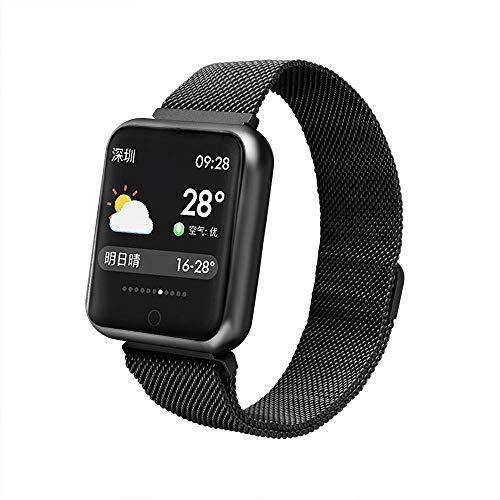 Hokaime Intelligentes Armband 1,3-Zoll-Ips-Farbbildschirm-Schrittzähler-Herzfrequenz-Schlafüberwachungs-IP68 Wasserdichtes Niveau-Kalorienverbrauch, schwarz
