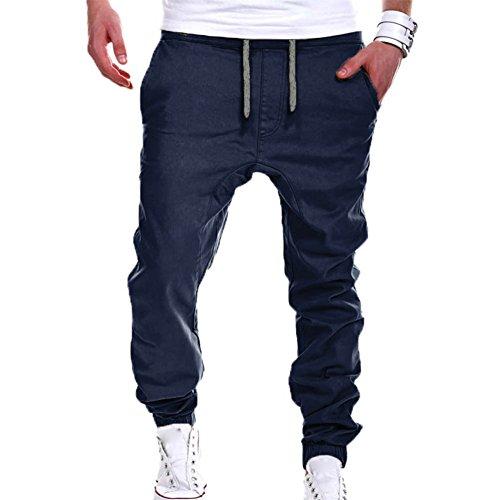 Moda Pantalones para Hombre Jogging Fitness Deportivos Pantalón de Chándal Slim Stretch Casuales Largos Jogger Pantalones