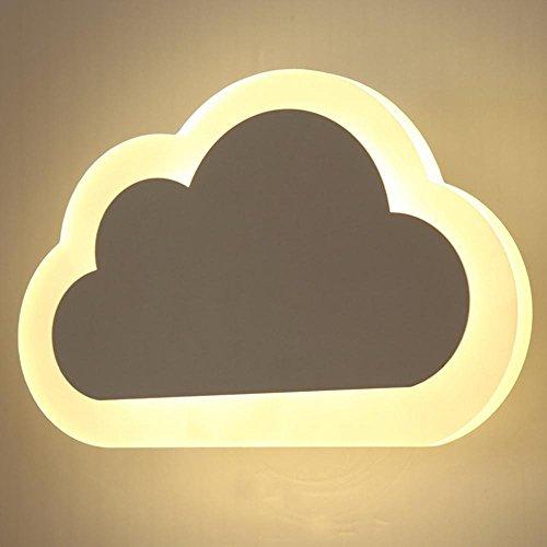YAYONG L¨¢mpara de pared de LED Nube forma de material acr¨ªlico Simple y creativo , warm white