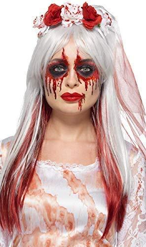 Dead Corpse Kostüm Bride - Damen Corpse Bride Dead Creepy Make-Up Halloween Glitzer Gesichtsfarbe Spezialeffekte Kostüm Kleid Outfit Satz