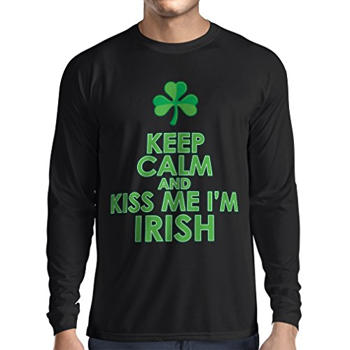 �rmeln Kiss me I'm Irish, Saint Patrick day jokes quotes shirts (XXX-Large Schwarz Mehrfarben) (Patric Star)