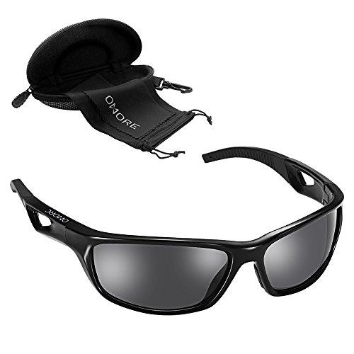 GoodFaith Sport Sonnenbrille, Männer Frauen Außen polarisierte Sonnenbrille UV400Schutz für Angeln Laufen Radfahren Fahren