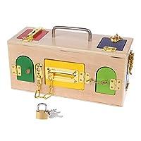 AniYY Montessori Colorful Lock Box Kids Children Educational Preschool Training Toys