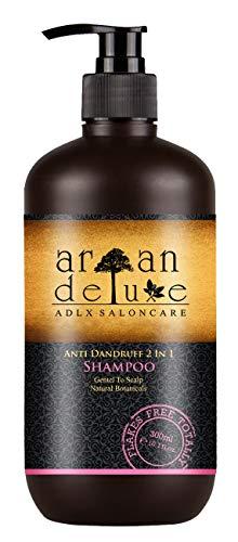 Argan Deluxe Anti-Schuppen Shampoo in Friseur-Qualität 300 ml - Hilfe gegen Schuppen und juckende Kopfhaut